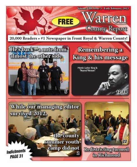 Early February, 2013 issue of Warren County Report